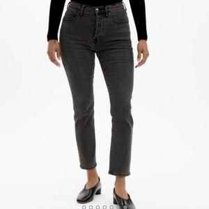 Everlane black cigarette jeans button Fly denim